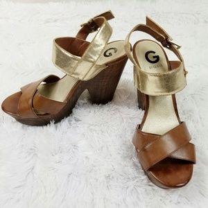 G by Guess | Wood Platform Heels